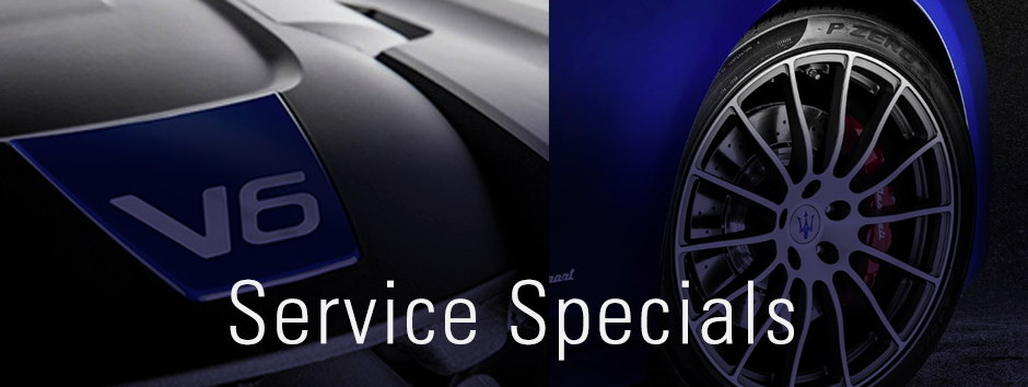 Service Specials at Wide World Maserati